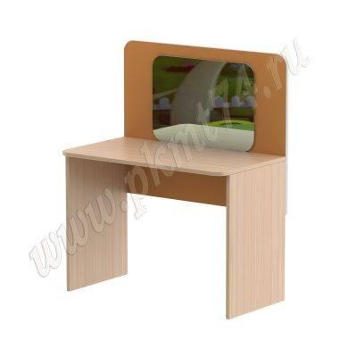 Стол для занятий с зеркалом МТ 17-100 ДубМол+Оранж