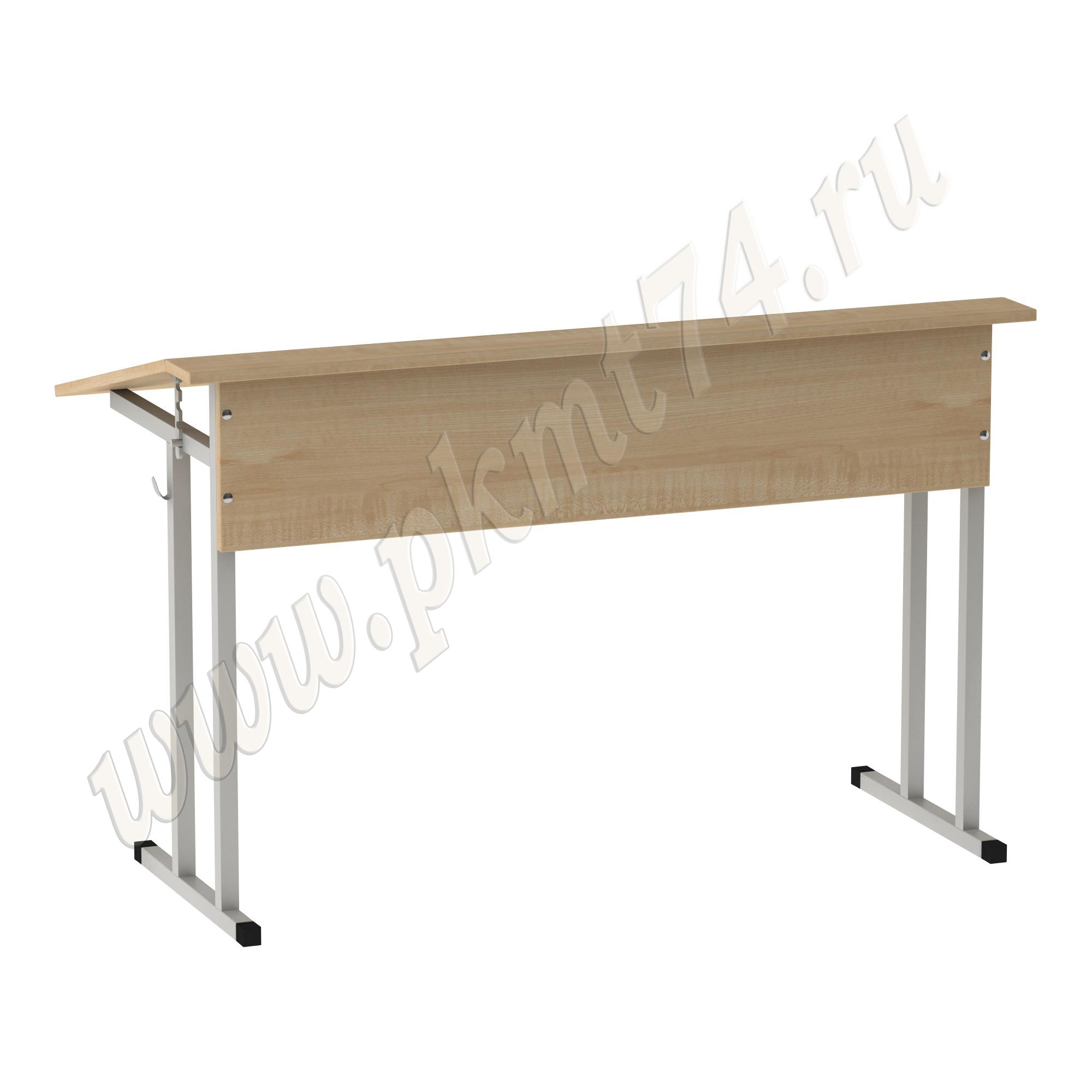Стол двухместный с регулируемым углом [Цвет ЛДСП:: Клён]