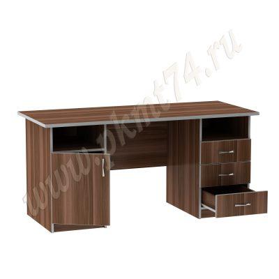Стол двухтумбовый офисный МТ 06-12 Слива-Алюминий