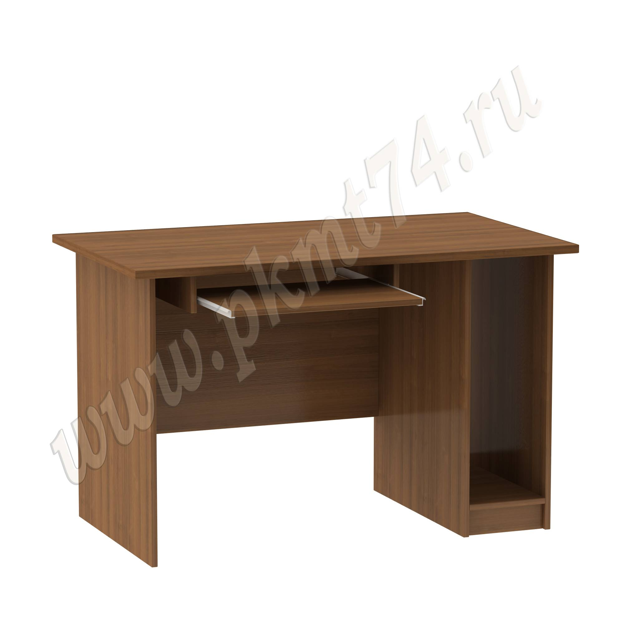 Стол офисный с подставкой под системный блок [Цвета ЛДСП на выбор:: Орех]