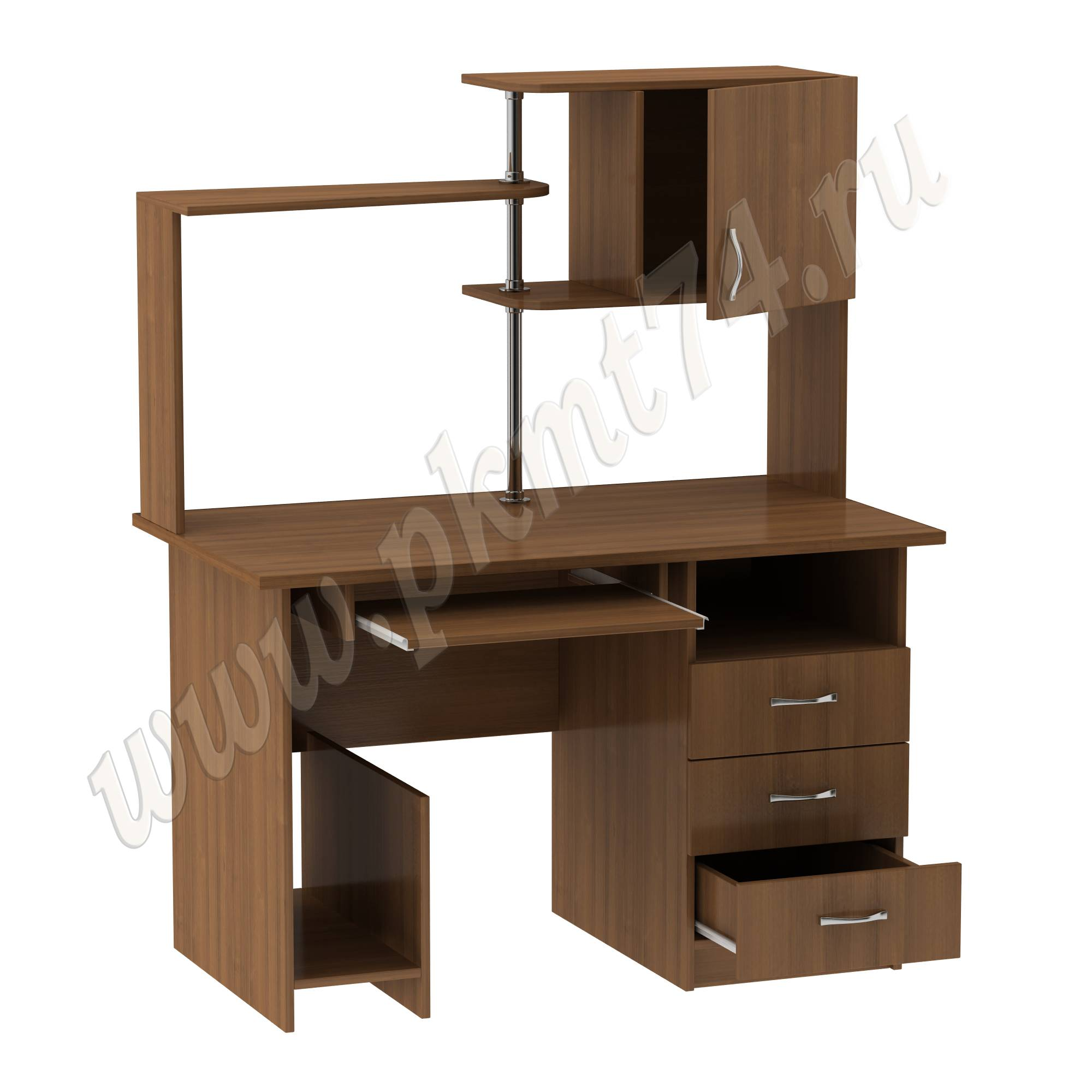 Стол компьютерный с полками [Цвета ЛДСП на выбор:: Орех]