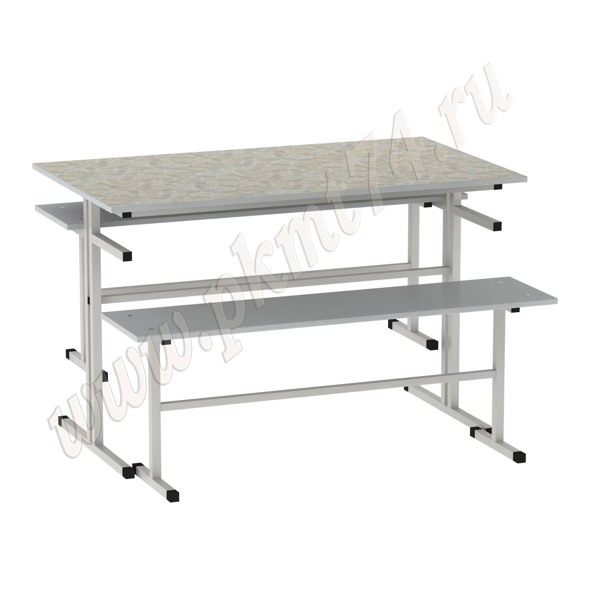 Стол обеденный с лавочками [Цвет столешницы (СКИФ):: Луксор (173)]