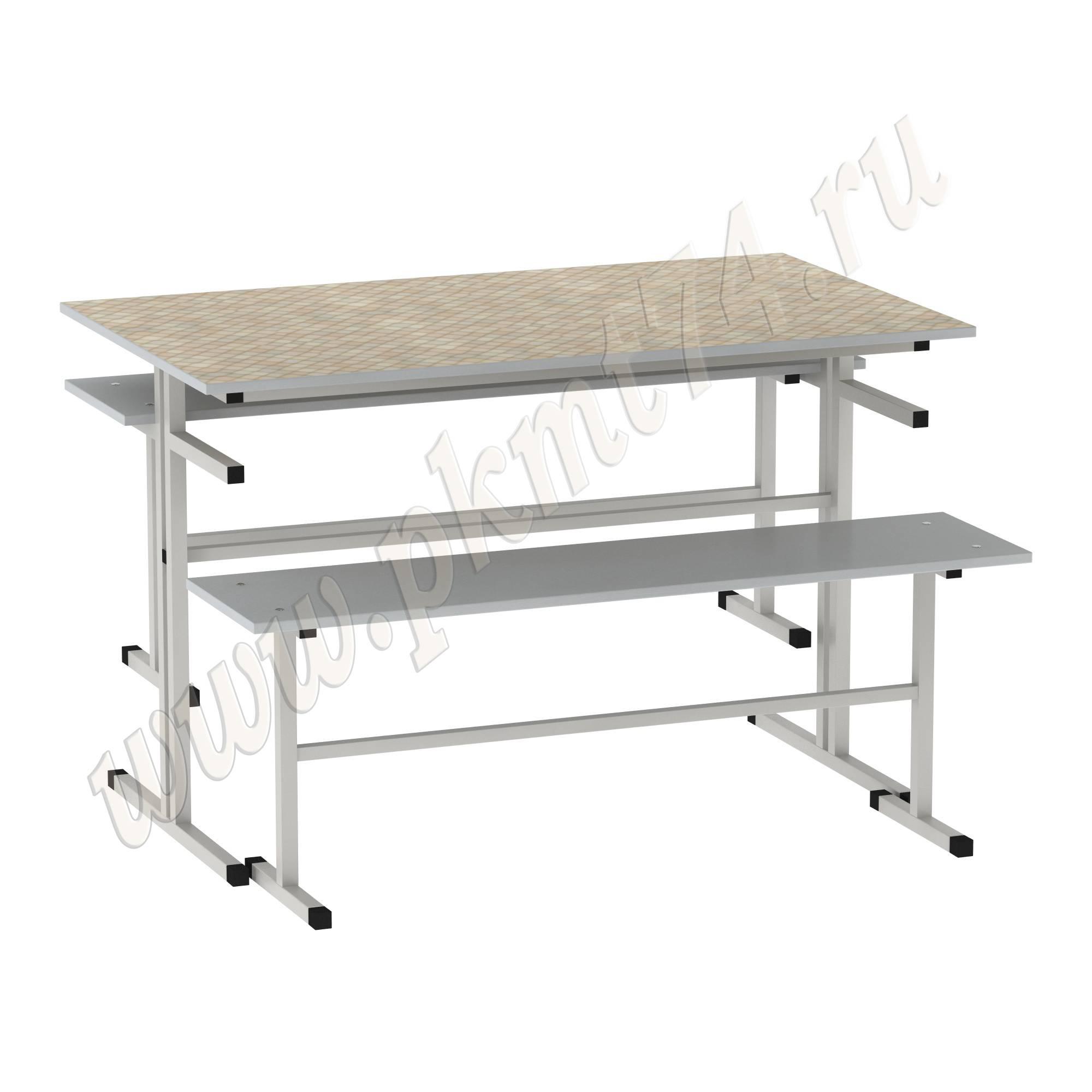 Стол обеденный с лавочками [Цвет столешницы (СКИФ):: Мозайка (176)]