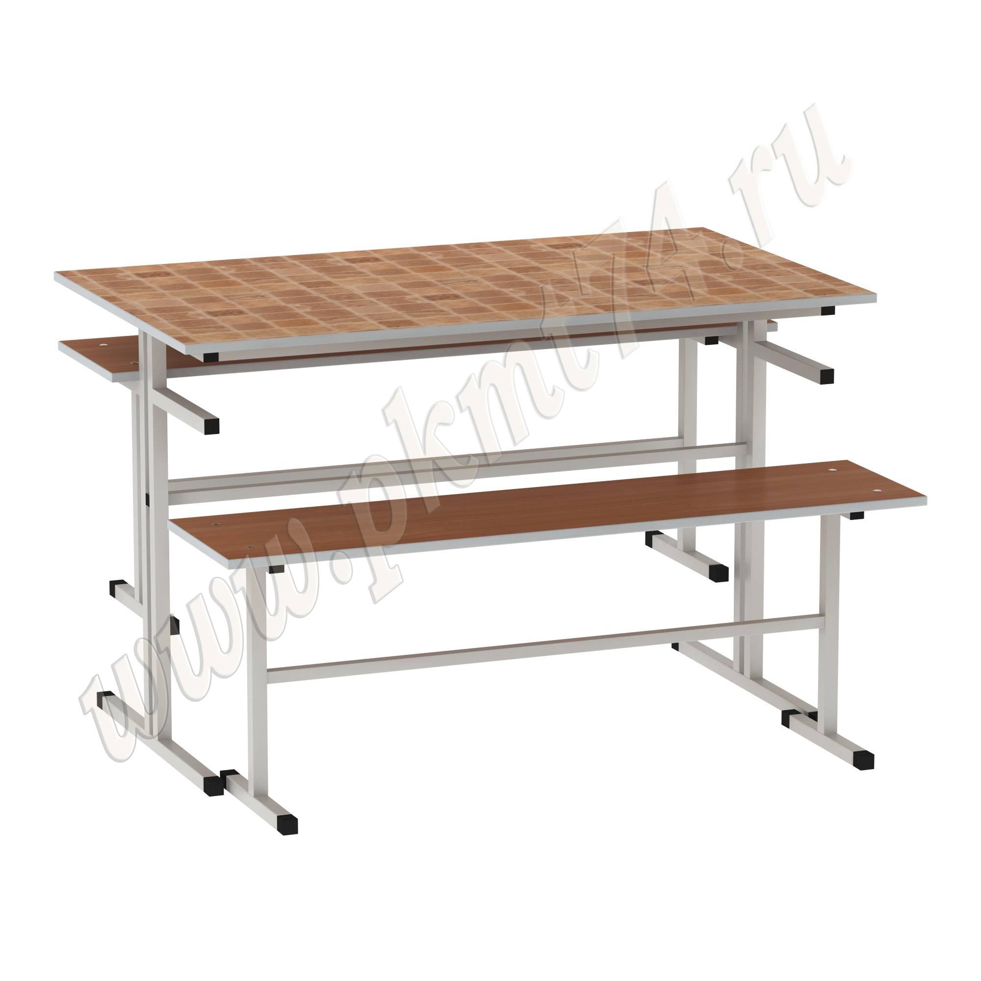 Стол обеденный с лавочками [Цвет столешницы (СКИФ):: Мексика (24)]