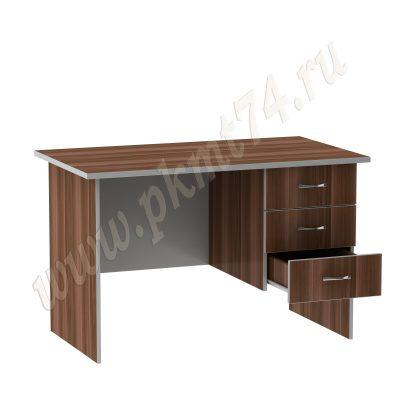 Стол однотумбовый с ящиками МТ 06-10 Слива-Алюминий