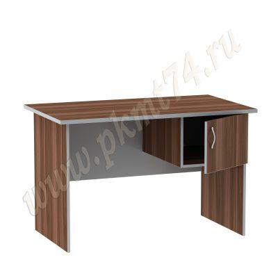 Стол офисный однотумбовый МТ 06-3 Слива-Алюминий