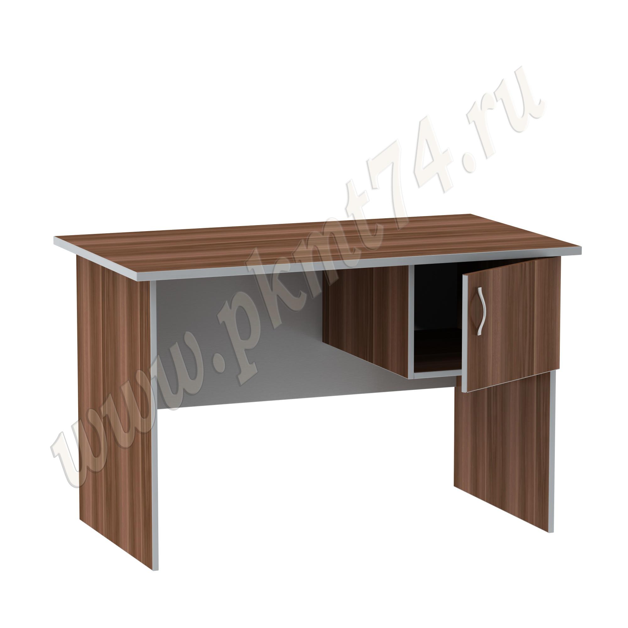 Стол офисный однотумбовый [Цвета ЛДСП на выбор:: Слива-Алюминий]