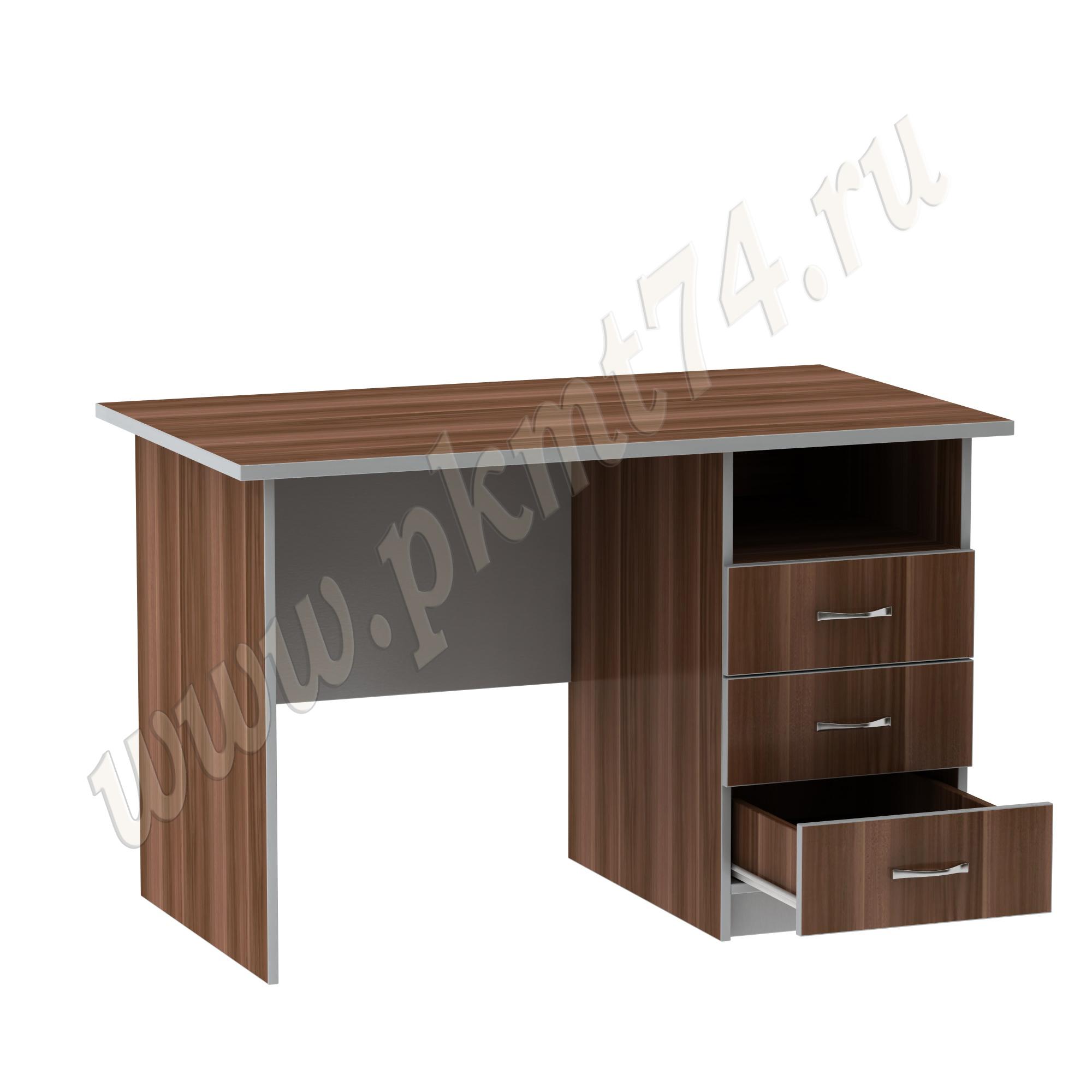 Стол офисный с одной тумбой МТ 06-9 Слива-Алюминий