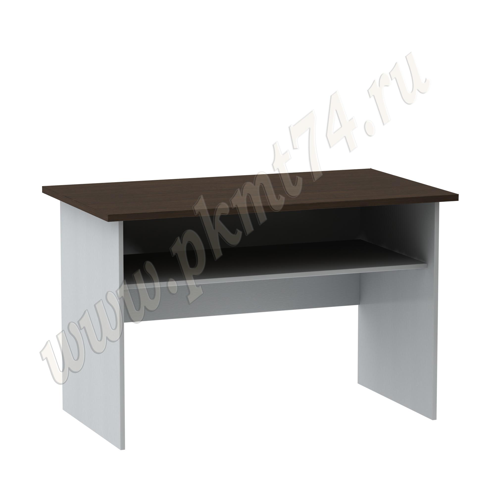 Стол письменный с полкой [Цвета ЛДСП на выбор:: Алюминий-Венге]