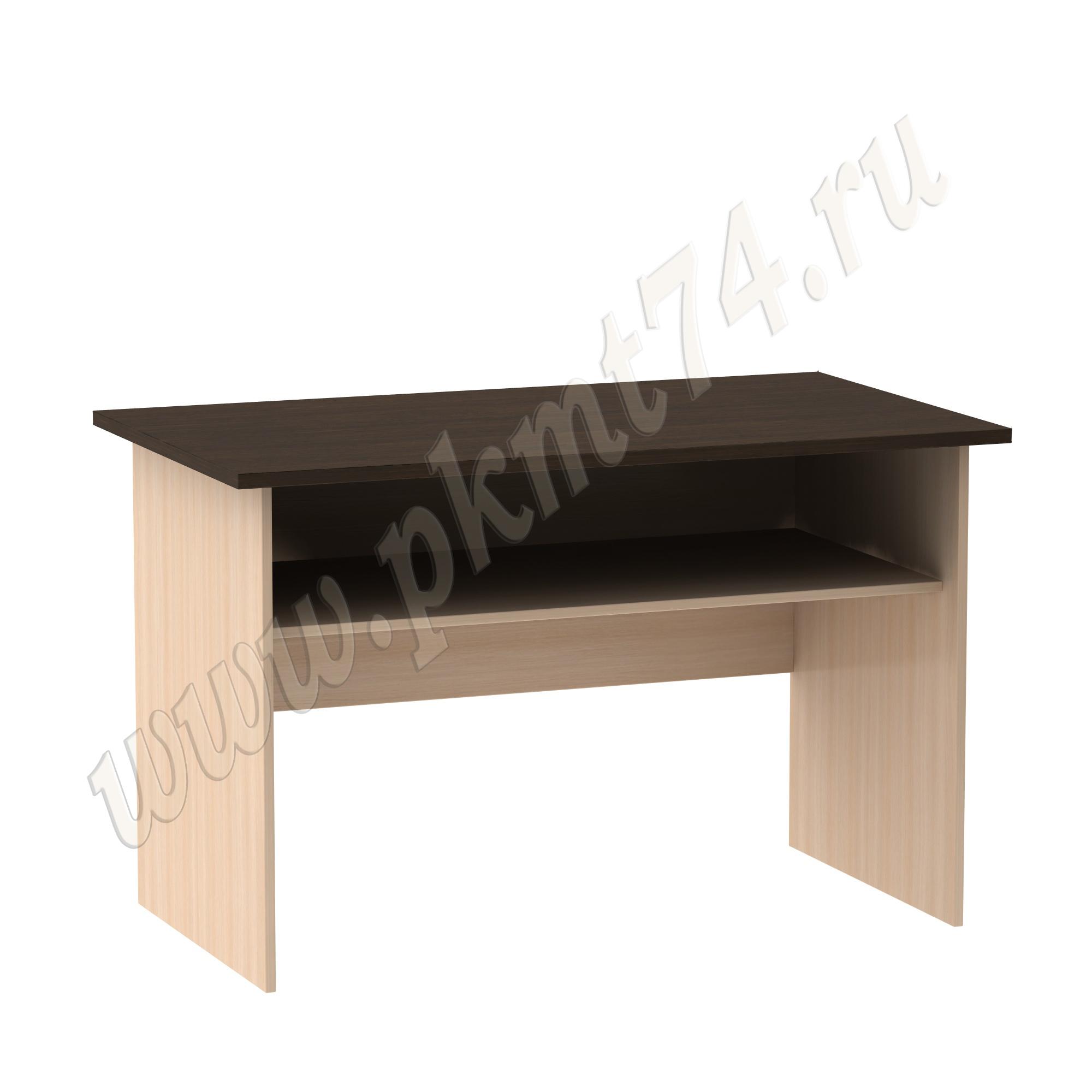 Стол письменный с полкой [Цвета ЛДСП на выбор:: Молочный-Венге]