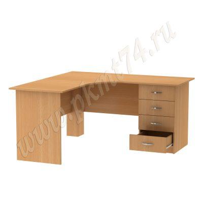 Стол письменный угловой для общежития МТ 06-14 Бук