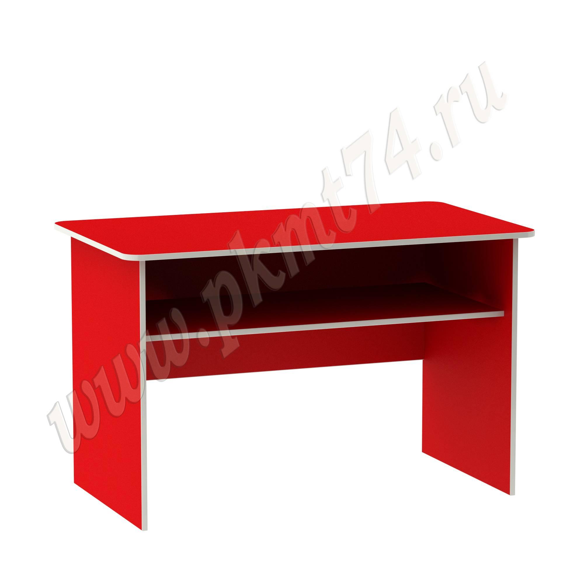 Стол с полкой для воспитателя [Цвет на выбор:: Красный]