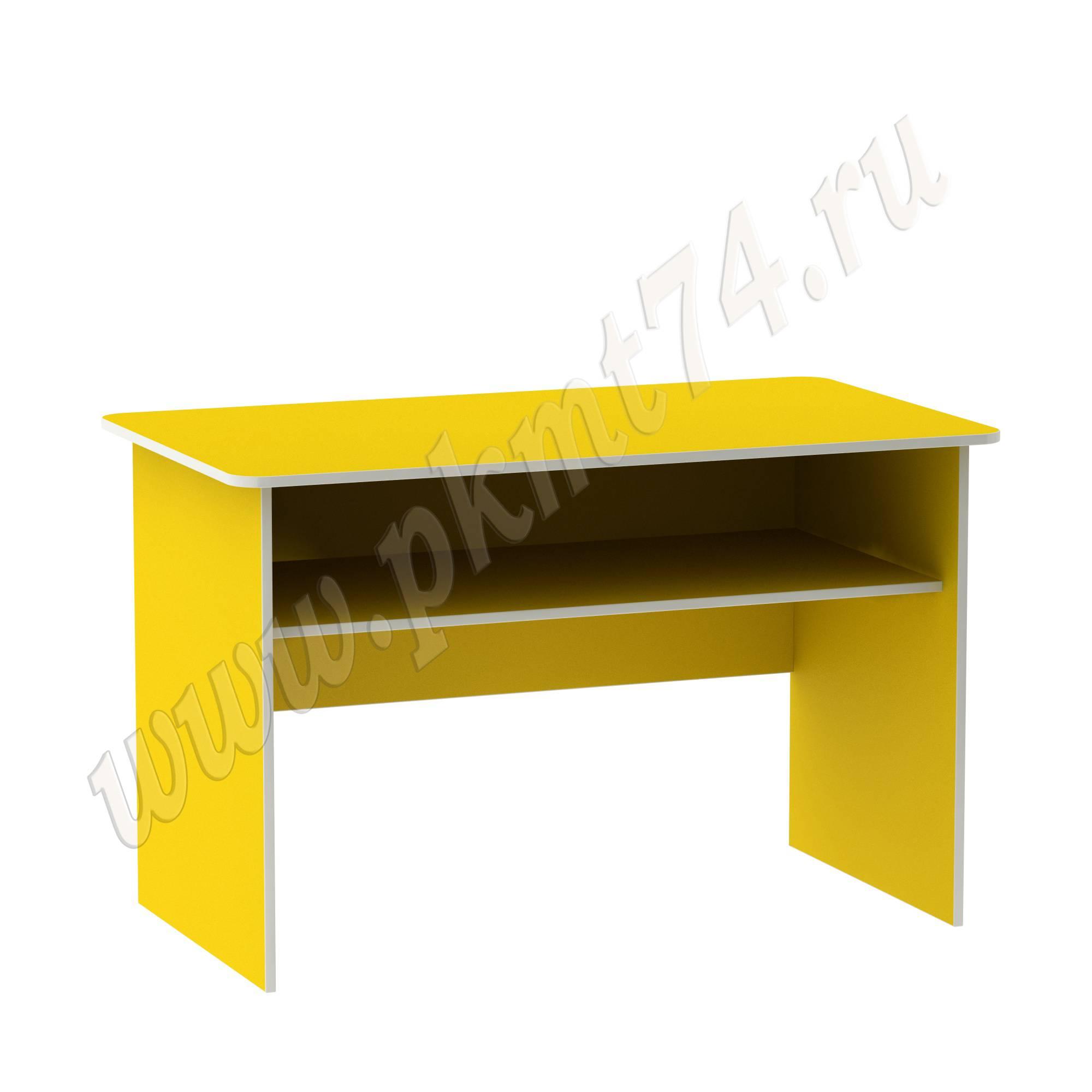 Стол с полкой для воспитателя [Цвет на выбор:: Желтый]