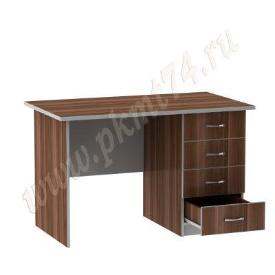 Стол с вместительной тумбой мт 06-23 Слива-Алюм