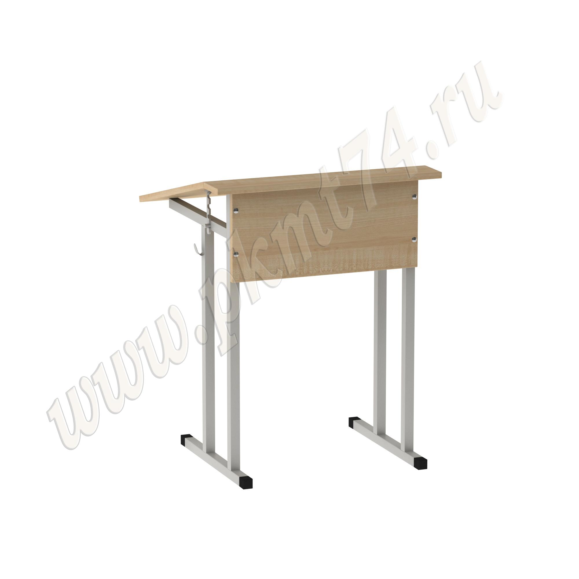 Стол ученический одноместный с регулируемым углом [Цвет ЛДСП:: Клён]