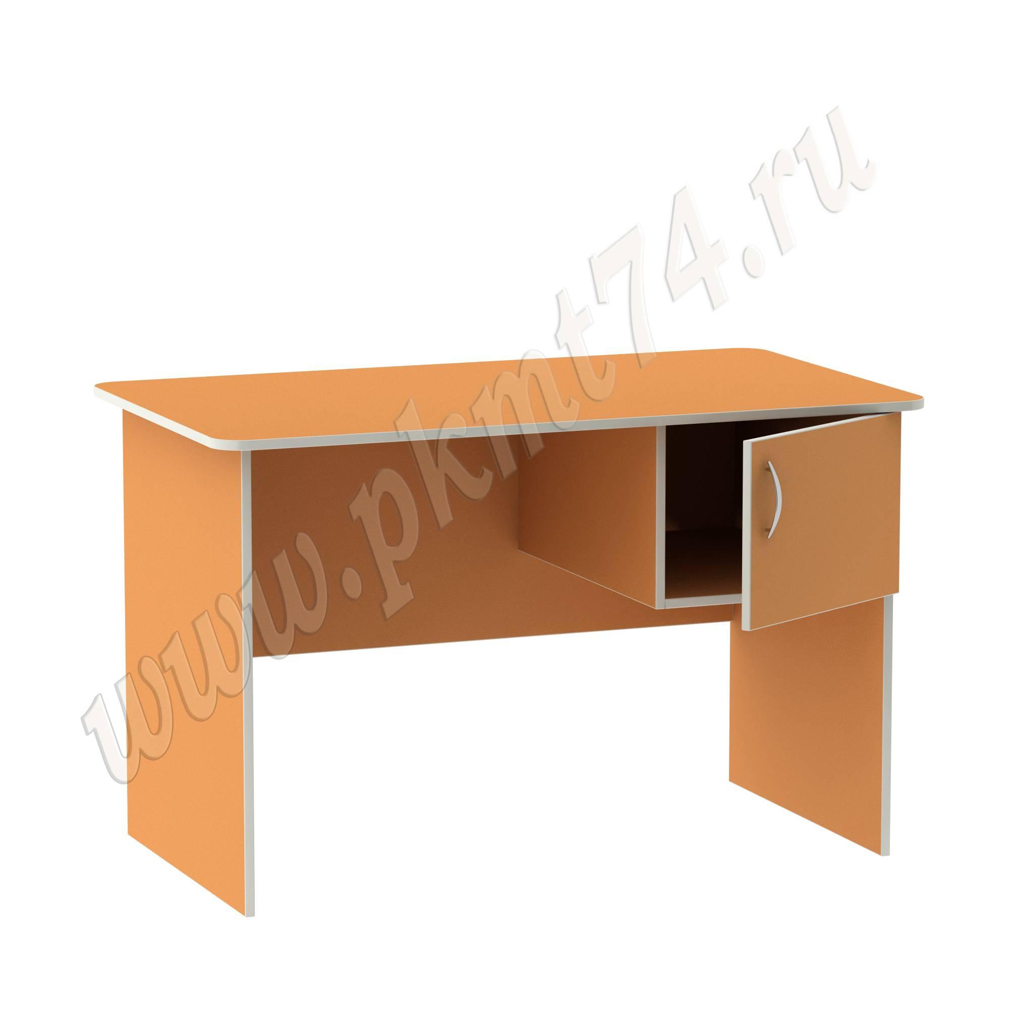 Стол воспитателя с ящиком [Цвет на выбор:: Оранжевый (Манго)]