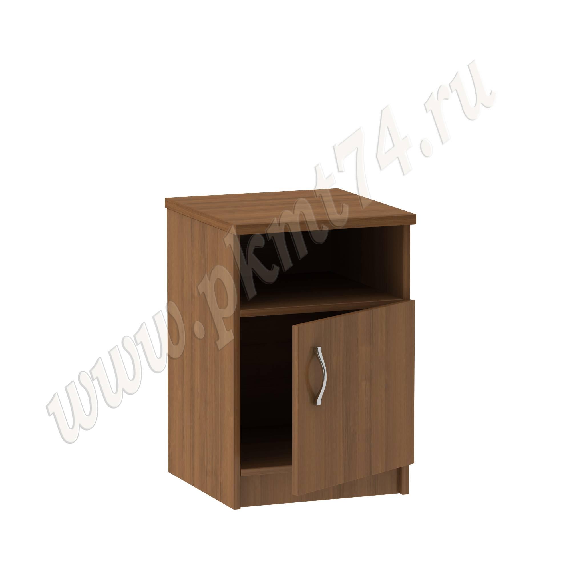Тумба с нишей и дверкой для офиса [Цвета ЛДСП на выбор:: Орех]