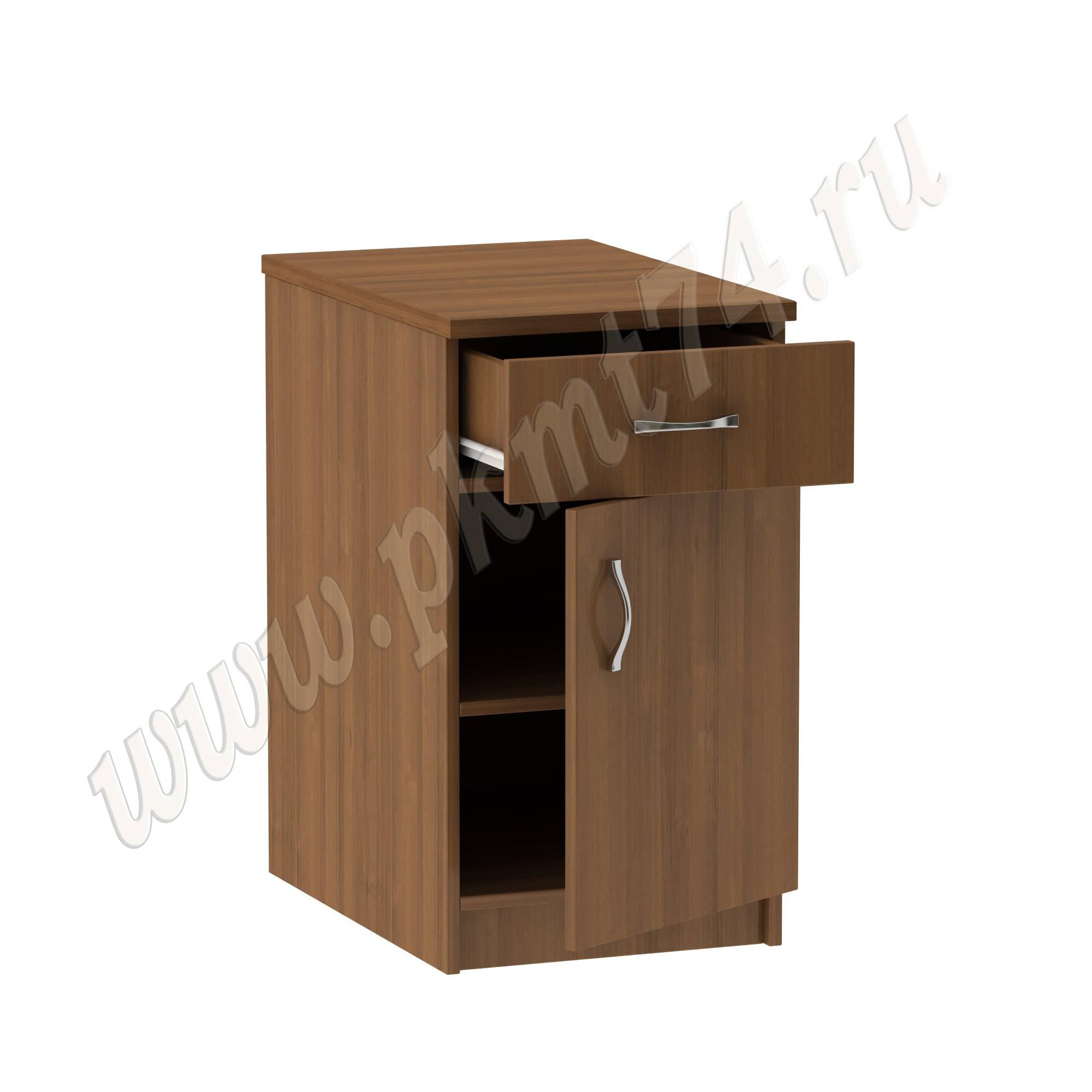 Тумба стационарная офисная с ящиком [Цвета ЛДСП на выбор:: Орех]