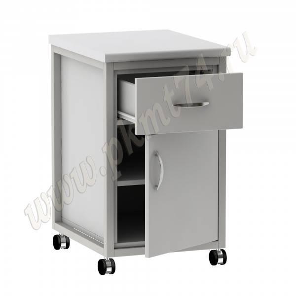 Тумба на металлическом каркасе с ящиком и дверкой МТ 24-4