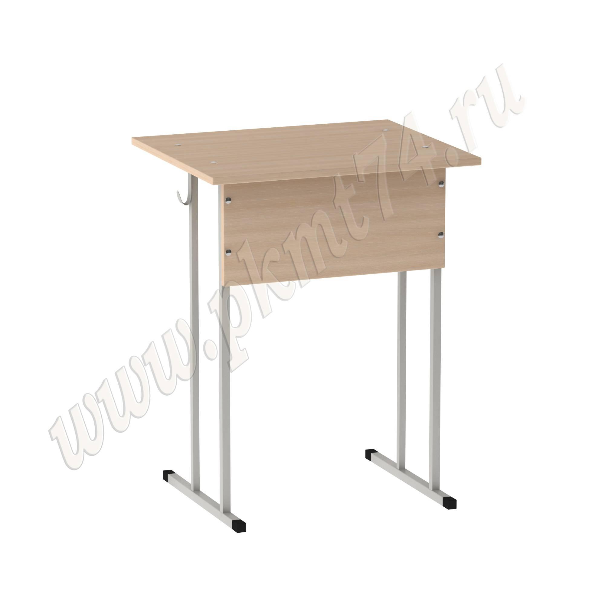 Стол ученический нерегулируемый одноместный [Цвет ЛДСП:: дуб Молочный]