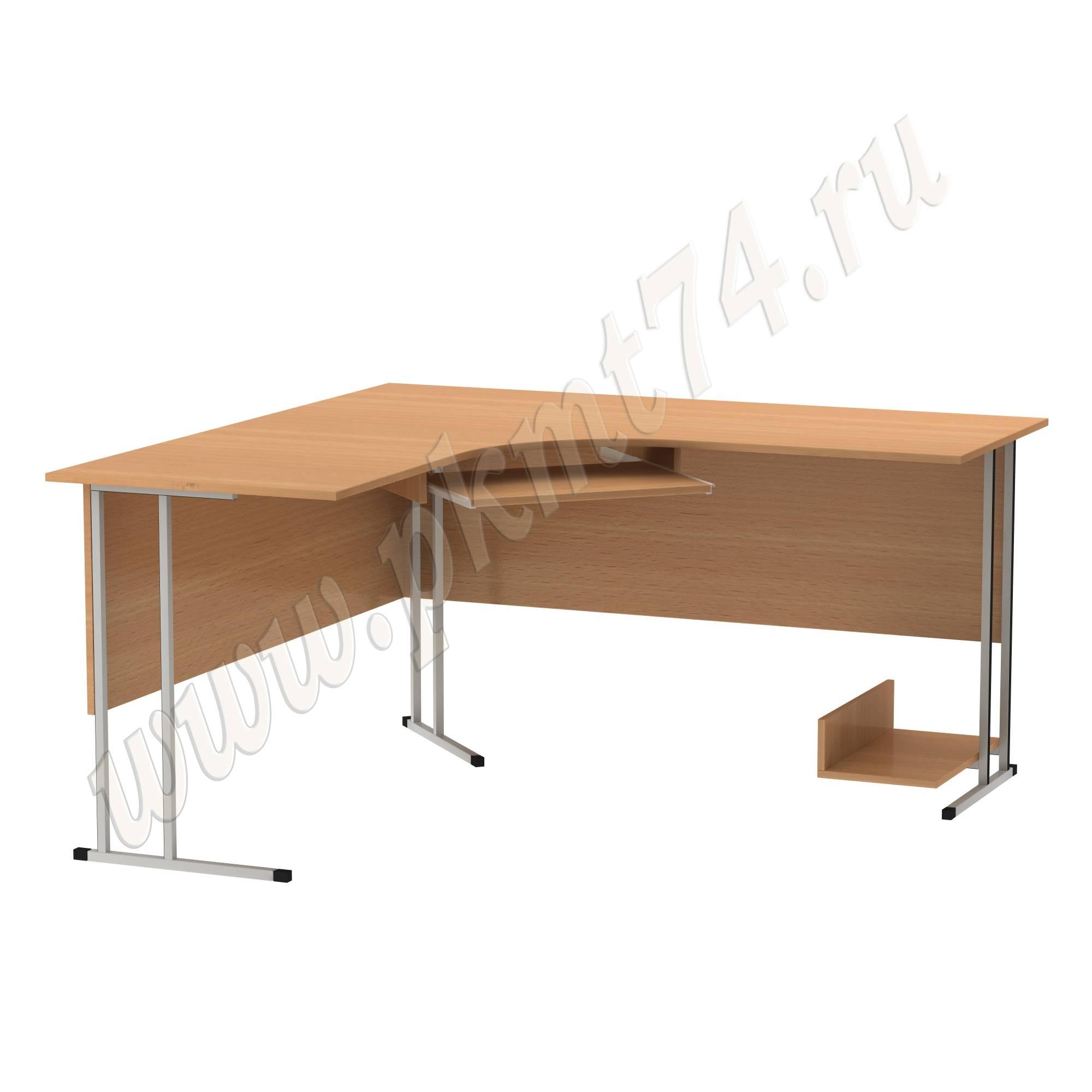 Стол компьютерный угловой на металлокаркасе МТ 07-10 Бук