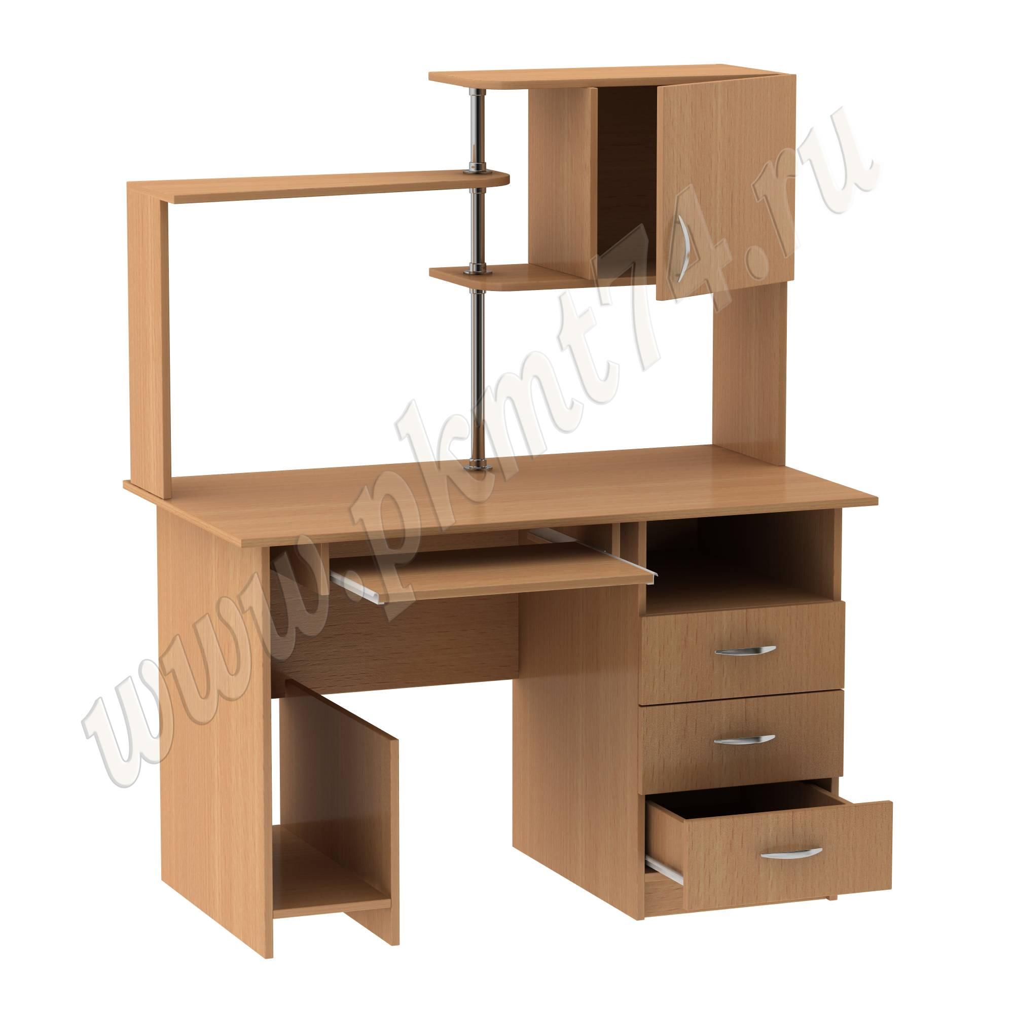 Стол компьютерный с надставкой МТ 07-11 Бук