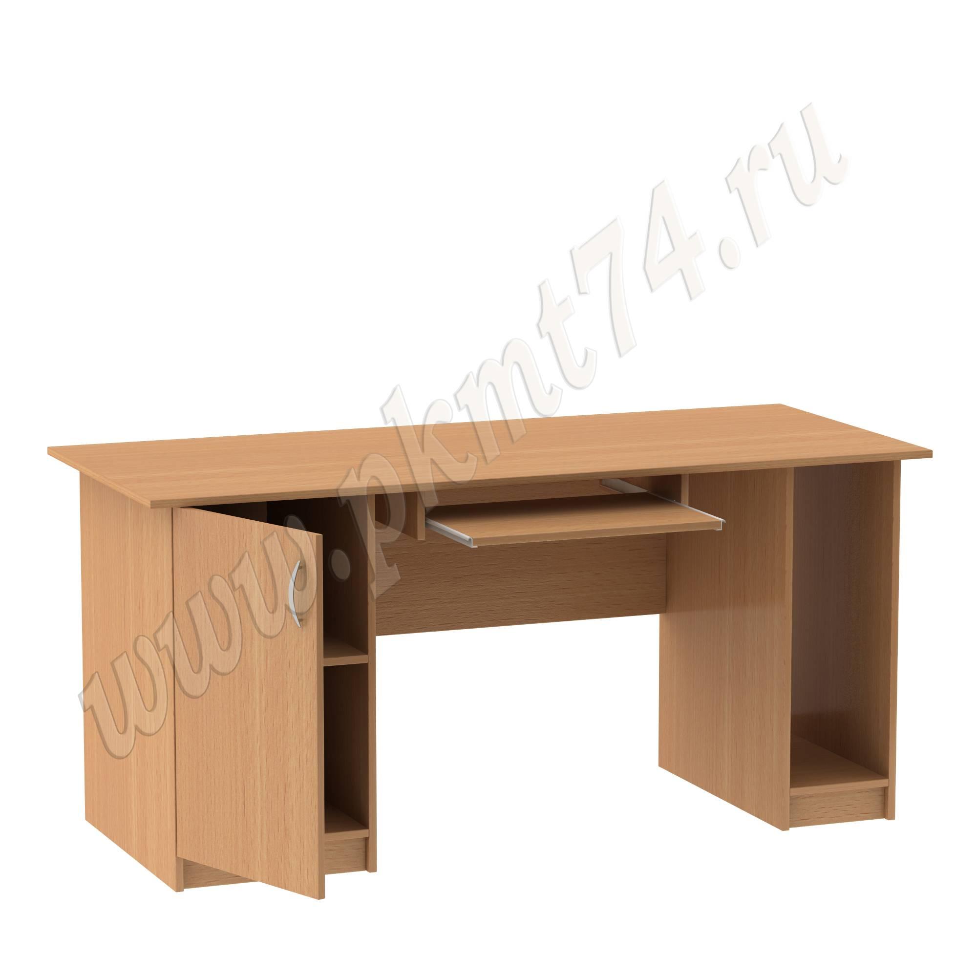 Стол компьютерный двухтумбовый МТ 07-4 Бук