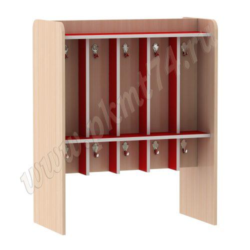 Вешалка детская напольная для полотенец МТ 17-20 ДубМол-Красный