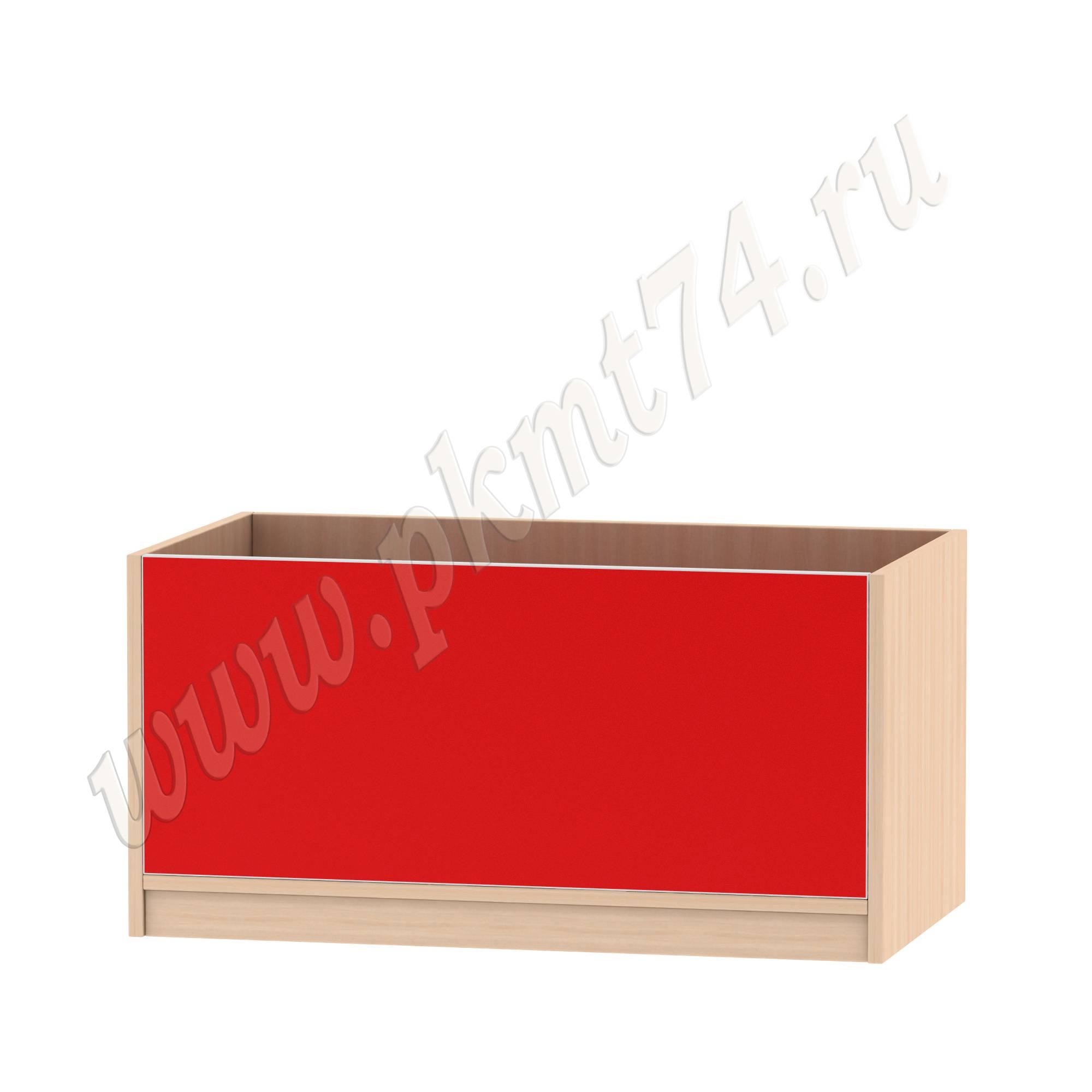 Ящик для игрушек МТ 17-94 ДубМол+Крас