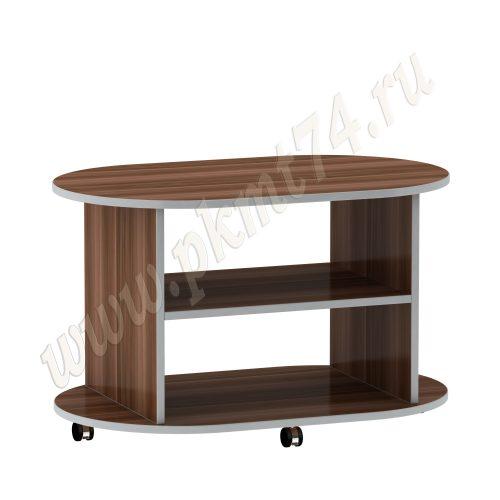 Журнальный стол овальный МТ 29-1 Слива-Алюминий