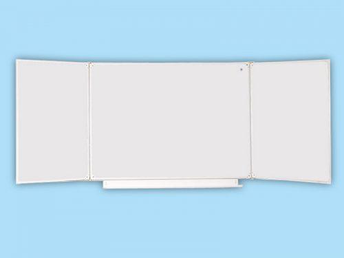Доска школьная трехэлементная маркерная белая 32 Б