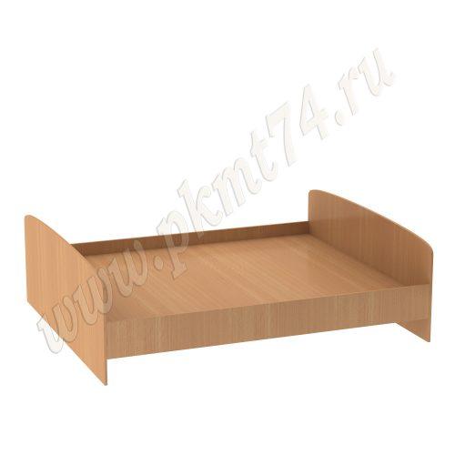 Кровать двухспальная с радиусными спинками МТ 16-5 Бук