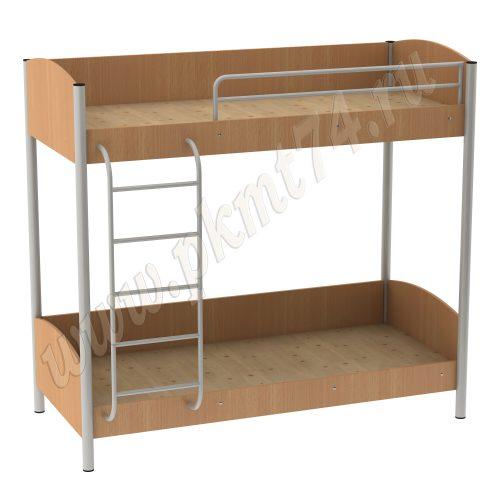 Кровать двухъярусная для хостела 16-8 Бук