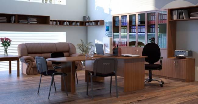 Варианты расстановки офисной мебели